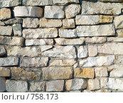 Купить «Стена выложенная из природного камня», фото № 758173, снято 18 марта 2009 г. (c) Кирпинев Валерий / Фотобанк Лори