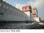 Купить «У стен Новодевичьего монастыря», фото № 764245, снято 20 марта 2009 г. (c) Кочеткова Галина / Фотобанк Лори