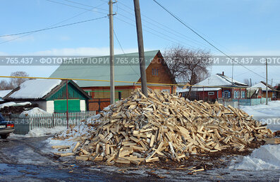 Купить «Заводоуковск. Деревенская улица», фото № 765437, снято 19 марта 2009 г. (c) Александр Тараканов / Фотобанк Лори