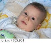 Купить «Младенец с соской», фото № 765901, снято 21 марта 2009 г. (c) Юлия Подгорная / Фотобанк Лори