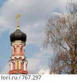 Купить «Церковь на фоне гоубого неба (весна)», фото № 767297, снято 8 апреля 2008 г. (c) Елена Азарнова / Фотобанк Лори