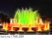 Купить «Фрактальная обработка  фонтана перед Национальным Дворцом Каталонии», иллюстрация № 768289 (c) Vitas / Фотобанк Лори