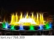 Купить «Фрактальная обработка фонтана перед Национальным Дворцом Каталонии», иллюстрация № 768309 (c) Vitas / Фотобанк Лори