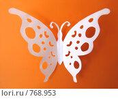 Купить «Бабочка вырезанная из бумаги», фото № 768953, снято 28 июня 2008 г. (c) Лилия / Фотобанк Лори