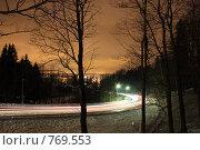 Ночь. Румболовские высоты. Стоковое фото, фотограф Осиев Антон / Фотобанк Лори