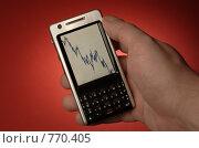 Купить «График на экране мобильного телефона», фото № 770405, снято 25 марта 2009 г. (c) Вячеслав Кондауров / Фотобанк Лори