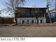 Боровск. Вид со стороны дороги на старый дом (2008 год). Стоковое фото, фотограф Пакалин Сергей / Фотобанк Лори