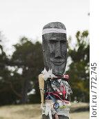Купить «Деревянный идол в священном месте», фото № 772745, снято 9 сентября 2008 г. (c) Andrey M / Фотобанк Лори