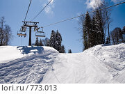 Купить «Красная Поляна, горно-туристический центр Газпрома», фото № 773013, снято 22 марта 2008 г. (c) Игорь Р / Фотобанк Лори