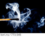 Купить «Погасшая спичка со струйками дыма», фото № 773545, снято 19 февраля 2020 г. (c) Александр Fanfo / Фотобанк Лори