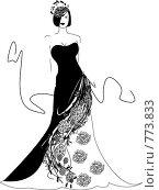 Купить «Девушка в красивом вечернем платье», иллюстрация № 773833 (c) Смирнова Ирина / Фотобанк Лори