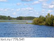 Купить «Рыбак на реке», фото № 776541, снято 1 августа 2008 г. (c) Елена Азарнова / Фотобанк Лори
