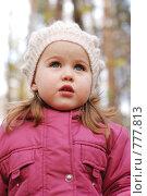 Портрет трехлетней девочки. Стоковое фото, фотограф Ольга Харламова / Фотобанк Лори