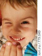 Купить «Прищурившийся ребенок», фото № 779049, снято 15 октября 2006 г. (c) Losevsky Pavel / Фотобанк Лори