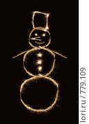 Купить «Снеговик из искр», фото № 779109, снято 23 мая 2019 г. (c) Losevsky Pavel / Фотобанк Лори
