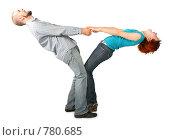 Купить «Мужчина и девушка стоят, держась за руки», фото № 780685, снято 18 июля 2019 г. (c) Losevsky Pavel / Фотобанк Лори