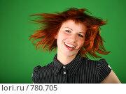 Купить «Веселая рыжая девушка», фото № 780705, снято 23 мая 2019 г. (c) Losevsky Pavel / Фотобанк Лори