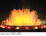 Купить «Фонтан перед Национальным Дворцом Каталонии. Барселона», фото № 781325, снято 4 сентября 2008 г. (c) Vitas / Фотобанк Лори