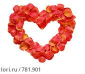 Сердечко из лепестков. Стоковое фото, фотограф Елена Хоткина / Фотобанк Лори