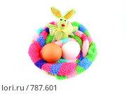 Купить «Пасхальный кролик и два яйца», фото № 787601, снято 15 декабря 2007 г. (c) Галина Короленко / Фотобанк Лори