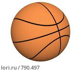 Купить «Баскетбольный мяч, изолировано», иллюстрация № 790497 (c) Alperium / Фотобанк Лори