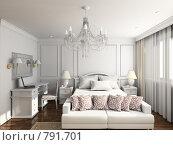 Купить «Интерьер спальни в отеле в классическом стиле», иллюстрация № 791701 (c) Майер Георгий Владимирович / Фотобанк Лори