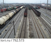 Железнодорожная станция. Стоковое фото, фотограф Егоров Алексей / Фотобанк Лори