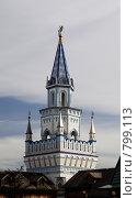 Купить «Одна из башен Измайловского кремля», фото № 799113, снято 8 апреля 2009 г. (c) Андрей Ерофеев / Фотобанк Лори