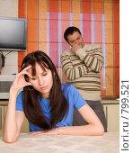 Купить «Конфликт между супругами», фото № 799521, снято 5 апреля 2009 г. (c) Гладских Татьяна / Фотобанк Лори