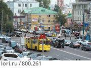 Купить «Перекресток на Большой Дмитровке (Москва)», фото № 800261, снято 22 августа 2007 г. (c) Юрий Синицын / Фотобанк Лори