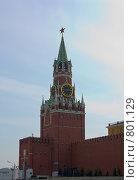 Купить «Красная площадь (Спасская башня)», фото № 801129, снято 11 апреля 2009 г. (c) Алексей Байдин / Фотобанк Лори