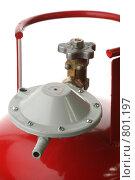 Купить «Газовый баллон с редуктором», фото № 801197, снято 11 апреля 2009 г. (c) Игорь Веснинов / Фотобанк Лори