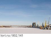 Купить «Астрахань. Порт и мост», фото № 802141, снято 14 января 2009 г. (c) Михаил Ворожцов / Фотобанк Лори