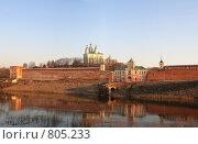 Купить «Панорама. Вид на Успенский собор и крепостную стену, г. Смоленск», фото № 805233, снято 10 апреля 2009 г. (c) Denis Kh. / Фотобанк Лори