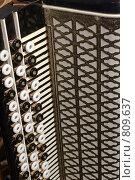 Часть правой клавиатуры баяна. Стоковое фото, фотограф Валерий Кондрашов / Фотобанк Лори