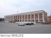 Купить «Здание городской администрации подмосковного Чехова», фото № 810213, снято 14 апреля 2009 г. (c) Владимир Катасонов / Фотобанк Лори