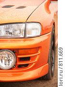 Купить «Оранжевый спортивный автомобиль», фото № 811669, снято 16 октября 2018 г. (c) Losevsky Pavel / Фотобанк Лори
