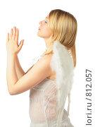 Купить «Девушка с крыльями ангела», фото № 812057, снято 29 января 2020 г. (c) Losevsky Pavel / Фотобанк Лори