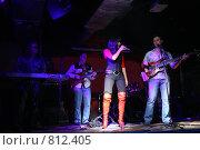 Купить «Рок-группа на концерте», фото № 812405, снято 27 июня 2019 г. (c) Losevsky Pavel / Фотобанк Лори