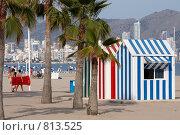 Купить «Пляж на берегу моря», фото № 813525, снято 30 июня 2008 г. (c) Юрий Синицын / Фотобанк Лори