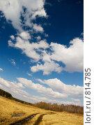 Весна, дорога в поле, фото № 814785, снято 15 апреля 2009 г. (c) Юрий Бельмесов / Фотобанк Лори