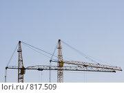 Строительные краны. Стоковое фото, фотограф Виктор Мухин / Фотобанк Лори
