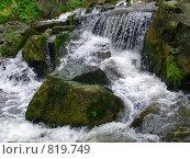 Водопад на Алтае. Стоковое фото, фотограф Карнаухова Елена / Фотобанк Лори