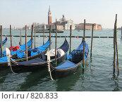 Купить «Гондолы в Венеции», фото № 820833, снято 13 марта 2009 г. (c) Татьяна Чурсина / Фотобанк Лори