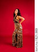 Купить «Элегантная брюнетка в длинном вечернем платье», фото № 821989, снято 25 февраля 2009 г. (c) Олег Тыщенко / Фотобанк Лори