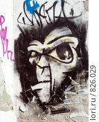 Купить «Стена с граффити», фото № 826029, снято 19 ноября 2017 г. (c) Александр Fanfo / Фотобанк Лори