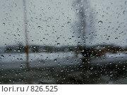 Капли на стекле. Стоковое фото, фотограф Данила Игнатович / Фотобанк Лори