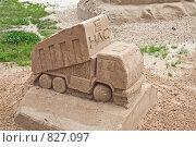 Купить «Скульптурные композиции на конкурсе песчаных фигур», фото № 827097, снято 31 июля 2008 г. (c) Parmenov Pavel / Фотобанк Лори