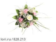 Купить «Свадебный букет на белом фоне», фото № 828213, снято 24 апреля 2009 г. (c) Майя Крученкова / Фотобанк Лори