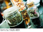 Купить «Емкости с зеленым чаем», фото № 828489, снято 25 июня 2006 г. (c) Юлия Сайганова / Фотобанк Лори